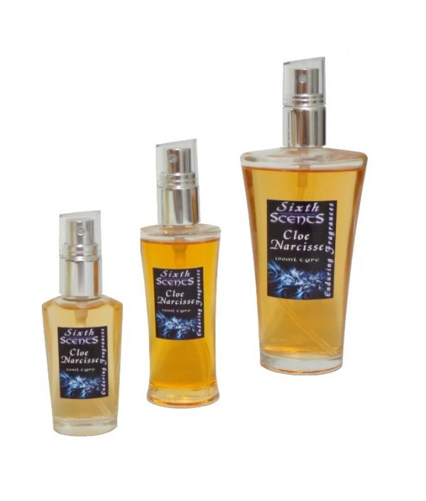Cloe Narcisse (Chloé) spray perfume shown in all sizes